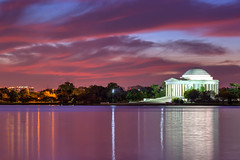 Twilight Dawn Begins (dngovoni) Tags: fall water clouds sunrise landscape dc background tidalbasin