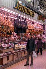 Cured Hams - Mercado Central - Valencia (Panasonic Lumix LX100 Compact) (markdbaynham) Tags: street leica city urban food valencia lens four lumix spain market panasonic espana mercado espanol third fixed ft metropolis es 43rd compact lx mercat evf dmclx lx100 2475mm f1728 dmclx100