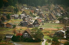 Shirakawa-go, Gassho-zukuri, Gassho Style, Minka, World Heritage Site, UNESCO, Shirakawa, Shirakawa-mura, Gifu, Japan, , , , , , , , , , , , , , ,  (bryan...) Tags: japan canon print iso100 fuji unesco worldheritagesite  fujifilm gifu shirakawago shirakawa eos50 minka fujicolor  gasshostyle canoneos50      colornegativefilm   gasshozukuri    shirakawamura