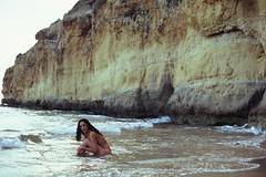 Fonda II (Marc Barcel) Tags: sea summer woman color beach 35mm canon nude ae1 velvia 100 analogue velvia100