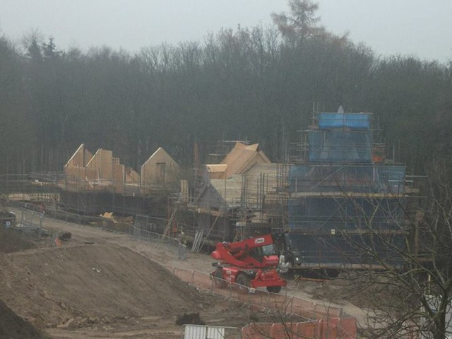 29/11/14 - A closer look at the tree houses.