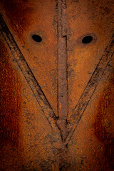 What are you staring at? (Sten Dueland) Tags: face metal eyes rust iron steel rusty plate anchor stare staring corrosion corroding