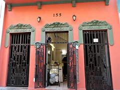 Laundrymat in Old San Juan (Bella Lisa) Tags: orange colors oldsanjuan puertorico sanjuan laundry viejosanjuan laundrymat