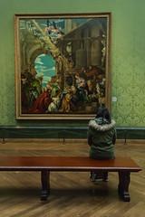 "Contemplating - Paolo Veronese ""The Adoration of the Kings"" (Cissa Rego) Tags: uk england people urban london tourism museum kids fun nikon chinatown d70s streetphotography trafalgarsquare housesofparliament bigben nationalgallery picadillycircus bondstreet nelsonscolumn soapbubble rousseau urbanphotography veronese"