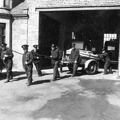 National & Auxiliary Fire Service (Dundee City Archives) Tags: world old 2 two water war photos dundee angus pump national ii area ww2 second service firemen trailer coventry firefighters afs brigade climax auxiliary