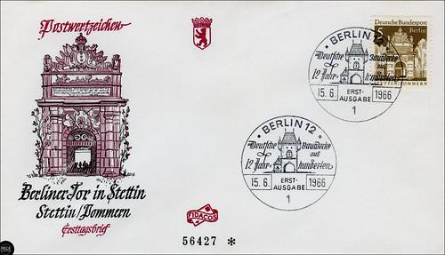 Berliner Tor in Stettin - Ersttagsbrief