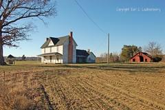North Carolina, Durham County, Sam Hall House (EC Leatherberry) Tags: farmhouse farm northcarolina vernacular agriculture vernaculararchitecture durhamcounty greekrevivalstyle ihouseform ellhouseform trigable