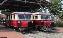 Anteater brothers (The Rubberbandman) Tags: railroad bus cars ford car train germany mouse pig branch diesel tracks engine tram rail railway loco hannover historic route railcar german depot locomotive passenger wismar gauge mechanic narrow snout anteater narrowgauge t41 fordcar dieselengine pigsnout carcars passengercar railbus schienenbus