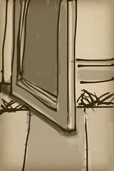 2014.12.15 Open Door, Striped Rug (Julia L. Kay) Tags: sanfrancisco blackandwhite bw woman white black art mobile female digital sketch san francisco artist arte julia kunst kay daily brush dessin peinture zen 365 everyday dibujo touchscreen artista mda fingerpaint artiste iphone knstler iart isketch mobileart idraw fingerpainter iphoneart juliakay julialkay zenbrush iamda mobiledigitalart zenbrushapp zenbrushapponly