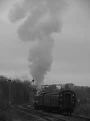 Smoke and steam... (qwertyberty45) Tags: lner 60009 unionofsouthafrica uksteam a4pacific worcesterforegatestreet