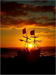 Hoylake Driftwood Pirate Ship (Hoylake Wirral) 29th December 2014 (Cassini2008) Tags: sunset wirral hoylake driftwoodpirateship gracedarlingdriftwoodpirateship