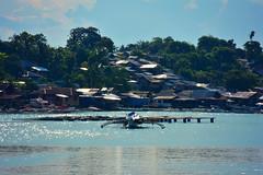 Philippines (free3yourmind) Tags: houses lake island boat philippines bohol