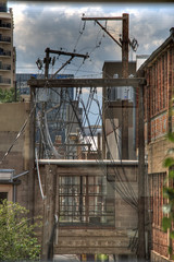 Alley of bricks, angles and wires (Finious Foto) Tags: brick architecture alley colorado denver wires urbanlandscape