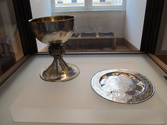 Silver Chalice and Paten (daryl_mitchell) Tags: paris france art museum silver spring louvre medieval chalice paten 2014
