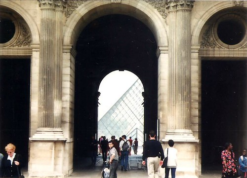 Palais du Louvre + I M Pei's pyramid
