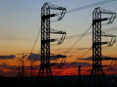 sunset cityscape electricity johannesburg electricitypylons edenvale