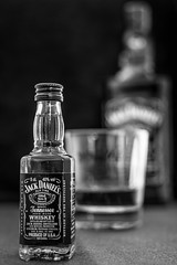 3/52 Shallow Depth Of Field. (Suggsy69) Tags: blackandwhite bw glass monochrome mono blackwhite bottle nikon dof depthoffield jd jackdaniels shallowdepthoffield 352 52weekproject d5200 week32015 52weeksthe2015edition weekstartingthursdayjanuary152015