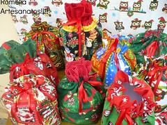 porta panetone natal 2014 (romelia.artesanatos) Tags: para saquinhos panetones