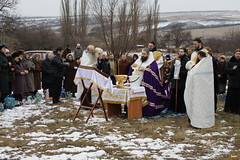 157. Первое освящение воды в Адамовке 2008 г