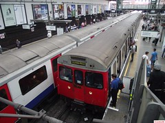 London Underground C Stock 5710 and 5524 at Earl's Court 2013 (CoachAlex1996) Tags: railroad england london train underground south stock tube rail railway trains system east transportation network subsurface