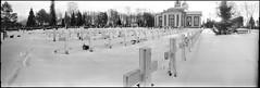 War Cemetery (Foide) Tags: panorama snow church cemetery pinhole 120film kyrka 617 malax f233 realitysosubtle rss141