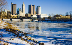 Buck-ice (jfre81) Tags: park winter columbus ohio anna snow cold ice skyline river olaf frozen north freezing bank arctic oh chilly elsa scioto