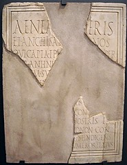 """Eulogy on Aeneas"" - Inscription from Pompeii (Tiberian age) - Naples, Archaeological Museum - ""Augustus and Campania"" - Exhibition at Archaeological Museum of Naples, until May 4, 2015 (* Karl *) Tags: italy pompeii naples aeneas inscription eulogy archaeologicalmuseum"