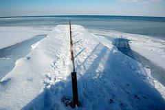 Far Side of the Moon (Andy Marfia) Tags: winter snow chicago ice beach pier iso200 frozen lakemichigan f8 edgewater hollywoodbeach 11250sec d7100 1685mm