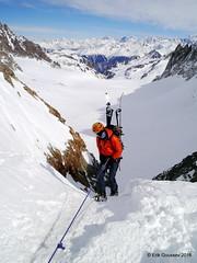 Day 1: Rappelling to Switzerland from Col du Chardonnet. (Erik.G.) Tags: zermatt chamonix skitouring skitour hauteroute valsorey plateauducouloir