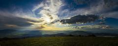 Sunset (erfey07) Tags: blue sunset orange sun lake mountains green grass landscape glare timber walk border peak hills bulgaria valley ih viden nikond3200 saariysqualitypictures