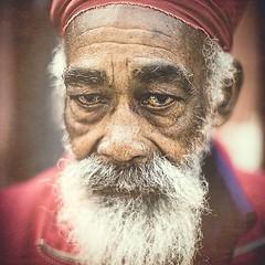 Wise man of Dalston. (C.Preston Roberts) Tags: street red portrait man london fashion beard grey eyes culture documentary style peaceful streetlife wisdom greybeard tranquil reportage tranquilo