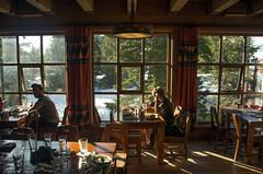 _IGP0897.PEF Timberline Lodge at Sunset (niiicedave) Tags: windows snow oregon alpine pacificnorthwest interiordesign cascadia cascaderange timberlinelodge mthoodnationalforest woodtables clackamascounty hemlocktrees