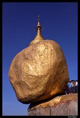 The golden rock (Dan Wiklund) Tags: rock temple gold pagoda seasia burma buddhism myanmar d800 goldenrock 2014 gilden kyaiktiyopagoda mountkyaiktiyo