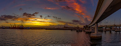 Port Adelaide Morn (johnwilliamson4) Tags: panorama water clouds sunrise outdoor australia adelaide southaustralia portriver