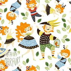 papageno-collection3 (Gaia Marfurt) Tags: spoonflower fabric patterndesign artlicensing zauberflote mozart papageno textiledesign art illustration kidsfashion fashion interiordesign surfacedesign children family