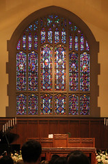 Window, Indianola Presbyterian Church  Columbus, Ohio (Pythaglio) Tags: county flowers wedding columbus ohio building church window glass franklin worship colorful candles arch interior religion charles structure historic stained organ ravine exquisite 1914 presbyterian paneling 1911 1916 indianola lancet arched iuka polychromatic varicolored inscho fra9813