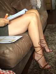 MyLeggyLady (RJT61) Tags: legs sandals heels stiletto miniskirt strappy