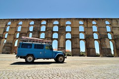 The fantastic aquaduct at Elvas [Portugal] (babakotoeu) Tags: car jeep offroad 4x4 toyota land series 40 landcruiser cruiser troopy bj40 40series bj45