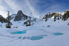 Watersprite Lake Morning (Ding Ying Xu) Tags: camping panorama mountain lake frozen frozenlake winterlandscape