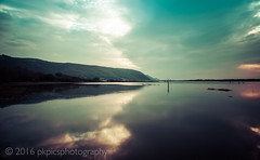 Flood reflections (PKpics1) Tags: water clouds flood salt marsh exmoor porlock sparkhayes reflectionssea