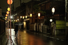 MATSURI is near rainy ver.3/ (kurupa_m) Tags: street rain festival night lantern     xt10