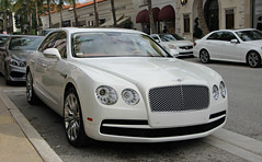 Bentley Flying Spur V8 (RudeDude2140a) Tags: white sports car sedan spur flying exotic v8 bentley