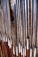 Maasai spears (3scapePhotos) Tags: africa maasai olduvai tanzania continent gorge safari serengeti spear spears tribal vertical