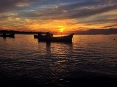 Sunset at the South Point of Africa (Betsie Nel) Tags: ocean sunset boat south peaceful ipad