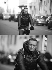 [La Mia Citt][Pedala] (Urca) Tags: portrait blackandwhite bw bike bicycle italia milano bn ciclista biancoenero bicicletta 2016 pedalare dittico 85571 ritrattostradale nikondigitalemir