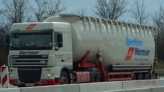 D - Wormser >94< DAF XF 105.410 SC (BonsaiTruck) Tags: truck silo lorry camion 94 trucks bulk lastwagen daf lorries lkw xf spitzer citerne lastzug wormser silozug 1s5 powdertank