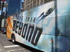 Star Trek Beyond - The Bus 2183 (Brechtbug) Tags: show street new york city nyc fiction bus film television trek computer movie poster star tv jj theater mr theatre manhattan district space rip ad broadway science double billboard midtown sidewalk ave captain spock scifi series beyond anton 1960s avenue abrams 8th futuristic kirk generated 45th decker the 2016 standee standees yelchin 07042016