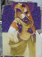 Inti : la Madone ... (29 juin 2016) (Archi & Philou) Tags: streetart girl lady femme workinprogress wip inti madone paris13 paintedwall murpeint travailencours itinerrance