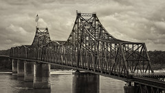 Bridge 11 (grimlock361) Tags: city bridge white black architecture mississippi landscape vicksburg