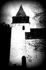 The tower (gruntkitty) Tags: bw spire tower church religion religious churches building monmouth monmouthsire ribbet